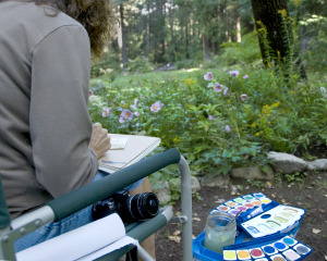 Plein-Air-Painting-in-the-Garden